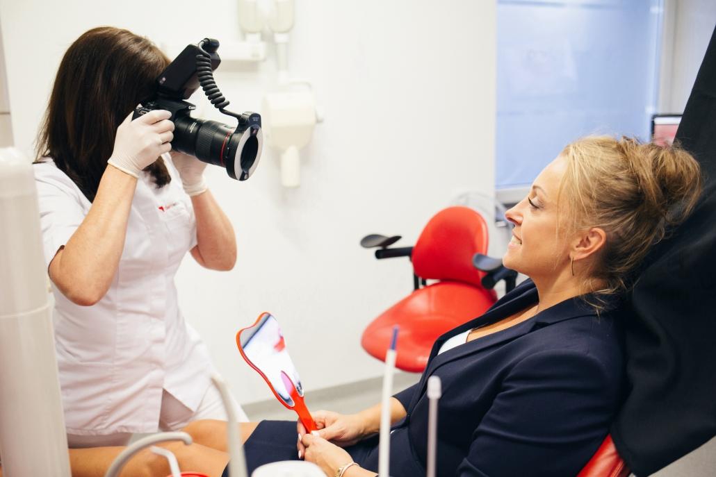 Zdjęcia dokumentujące leczenia pacjenta